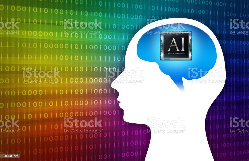 Regenbogen Intelligente Künstliche Abbildung Hintergrundbild Stock