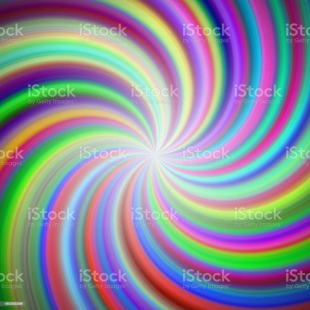 Rainbow swirl background vector art illustration