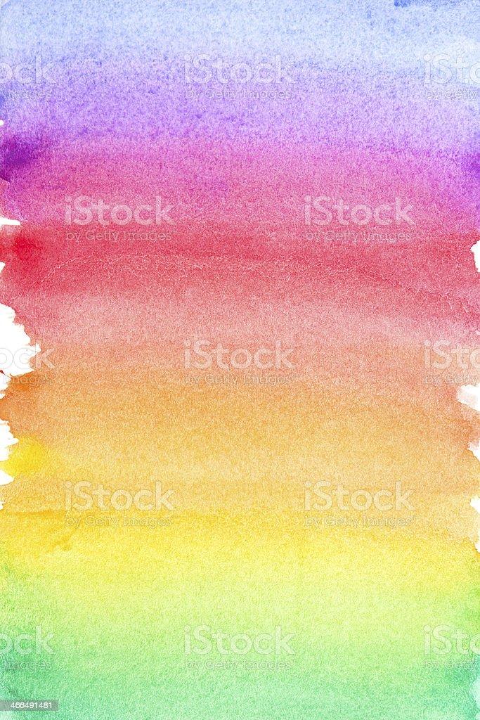 Rainbow vivid watercolor background vector art illustration