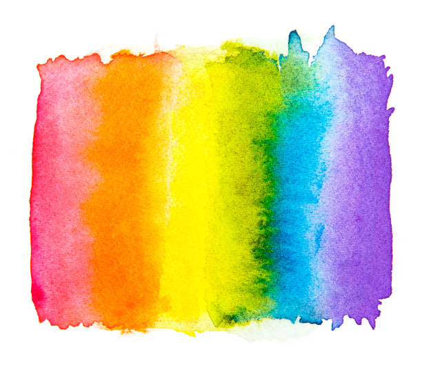 rainbow watercolor  isolated on a white background , gay pride lgbt , against homosexual discrimination symbol concept - tęcza stock illustrations