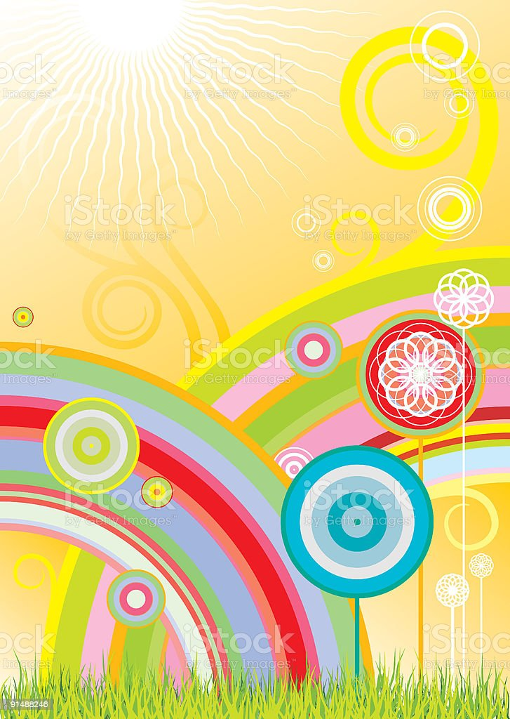 rainbows and flowers royalty-free rainbows and flowers stock vector art & more images of abstract