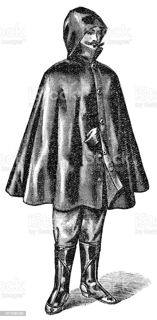 raincoat royalty-free stock vector art