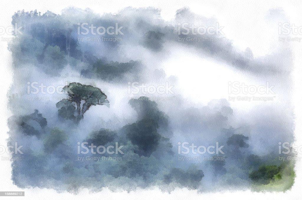 Rainforest vector art illustration