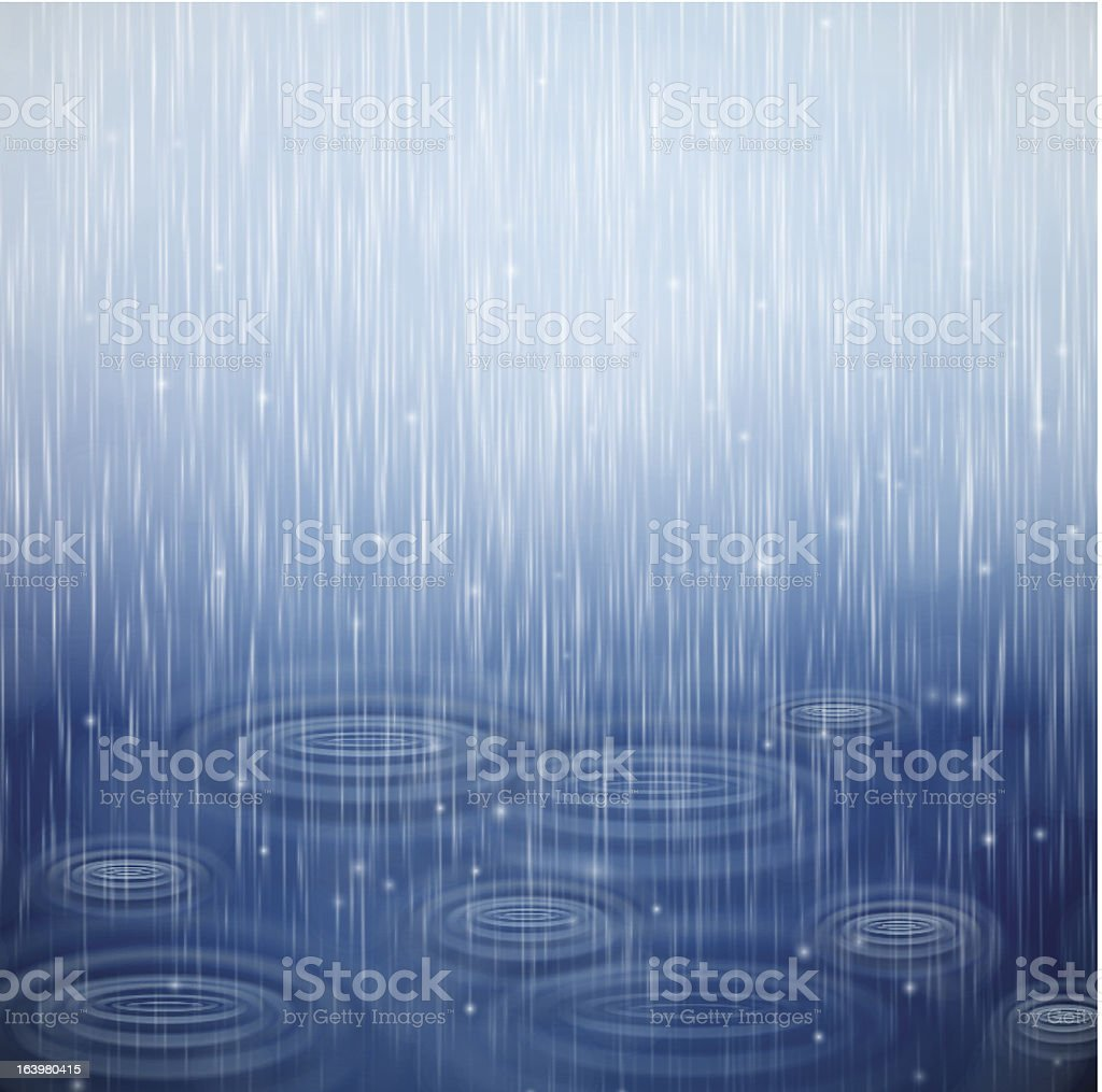 Dia de chuva - ilustração de arte em vetor