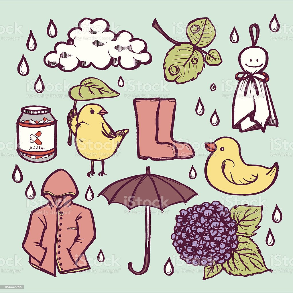 Rainy day royalty-free rainy day stock vector art & more images of animal