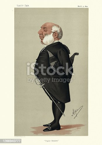 istock Ralph Allen Gosset , Deputy Serjeant-at-Arms, House of Commons, Vanity fair caricature 1266940777