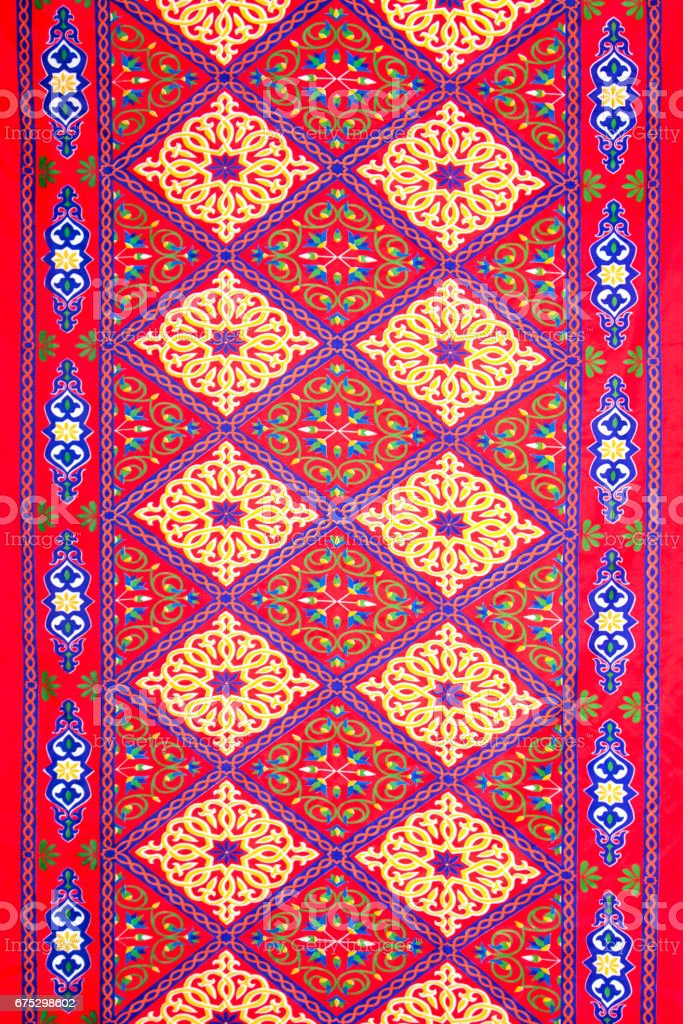 Ramadan colorful fabric pattern vector art illustration