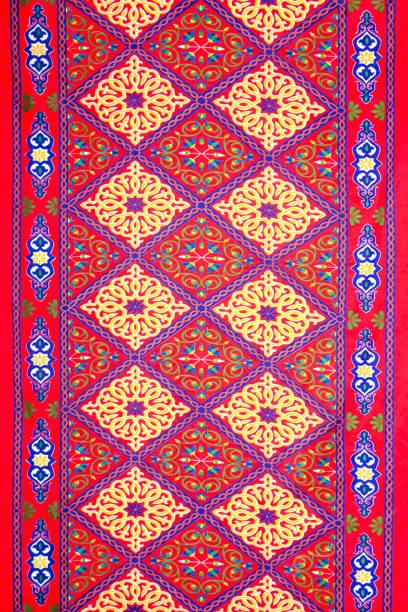 ramadan colorful fabric pattern - bedouin tent stock illustrations, clip art, cartoons, & icons