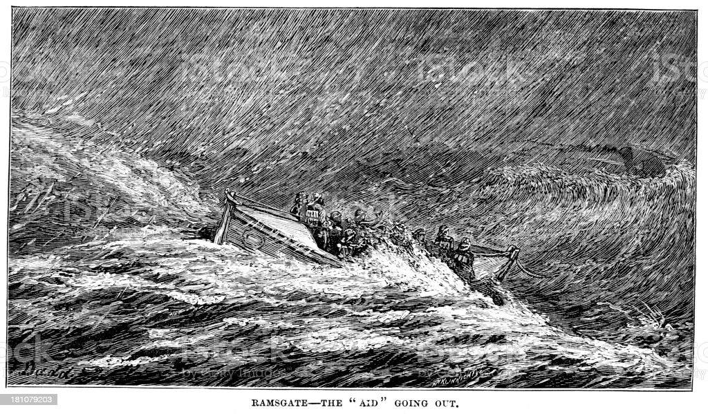 Ramsgate Lifeboat royalty-free stock vector art