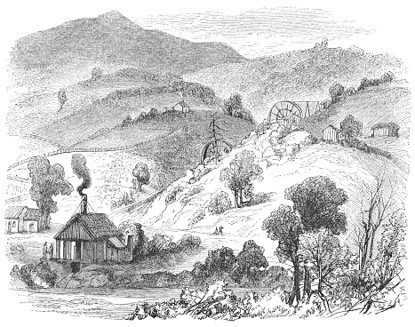 Rancho Las Mariposas in Mariposa County, California, USA (19th Century)
