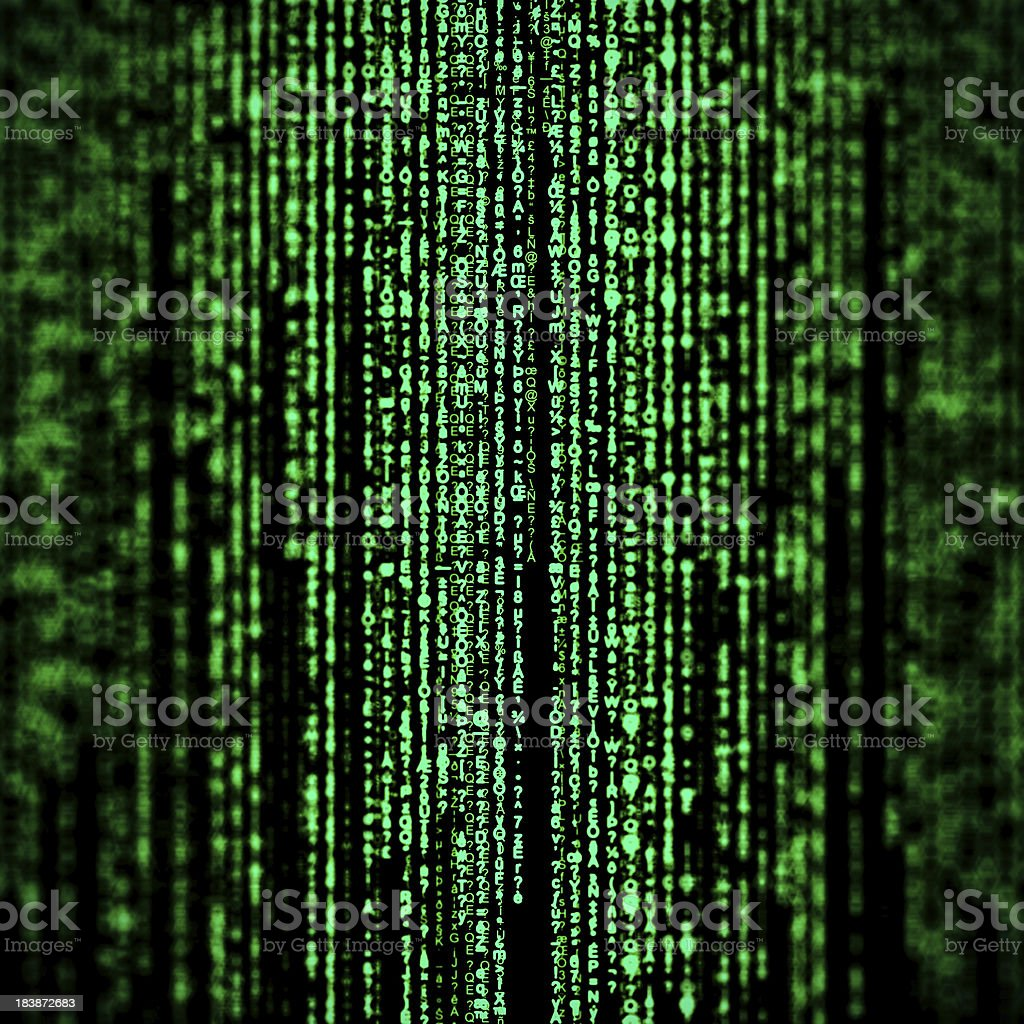 Random hexadecimal codes like matrix style. vector art illustration