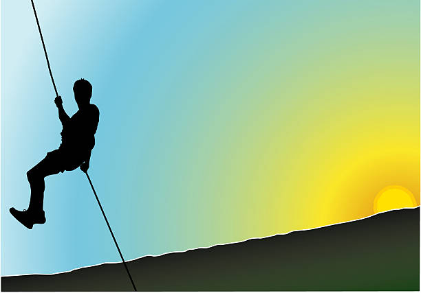 Rappel in the nature  leite stock illustrations