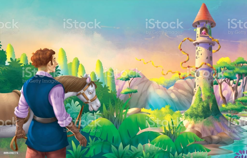 Rapunzel Story Stock Illustration - Download Image Now - iStock