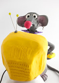 rat looking tv
