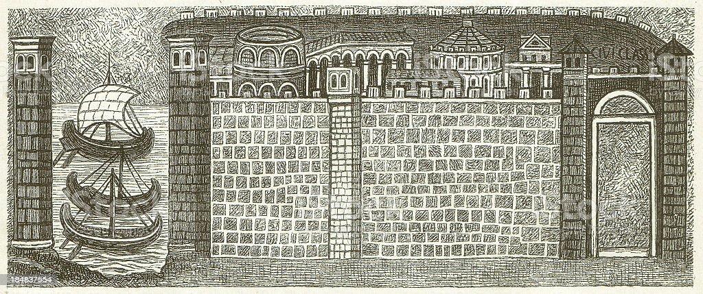 Ravenna royalty-free stock vector art