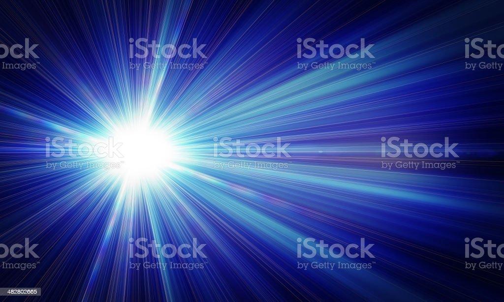 Rays of light vector art illustration
