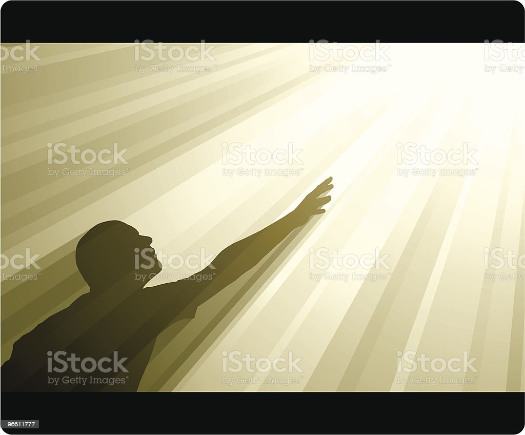 Reaching Up royalty-free stock vector art
