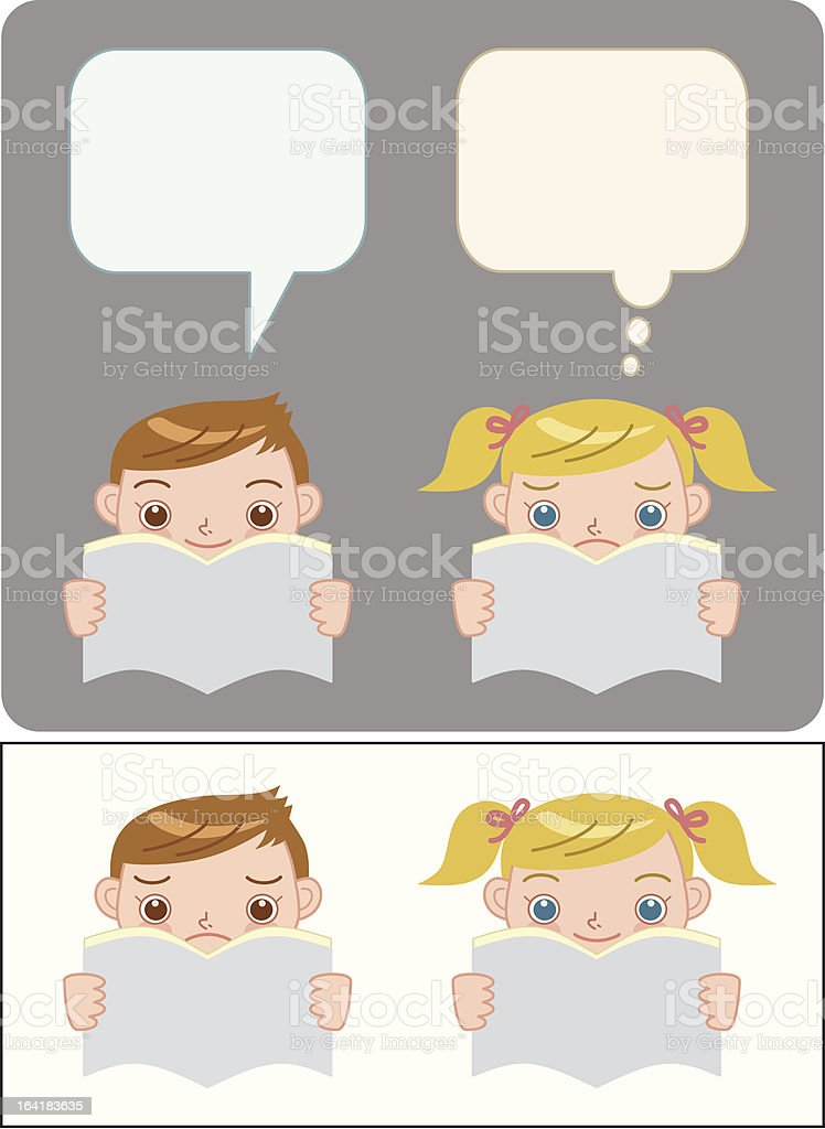 reading a book 1 royalty-free stock vector art