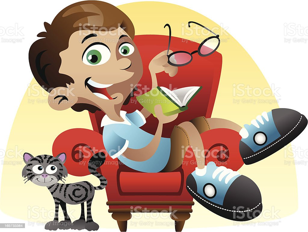 Reading Boy royalty-free reading boy stock vector art & more images of book