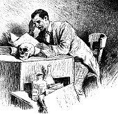Reading scientist - 1896