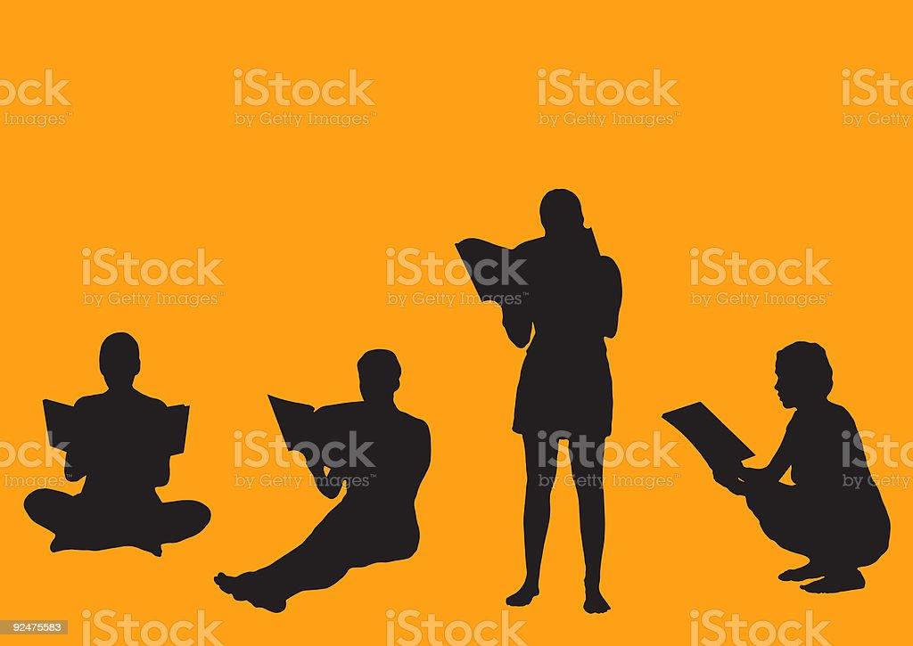 Reading-Vektor Lizenzfreies readingvektor stock vektor art und mehr bilder von akademisches lernen