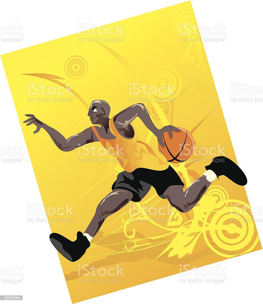 Bereit zu dunk Lizenzfreies bereit zu dunk stock vektor art und mehr bilder von basketball-spielball