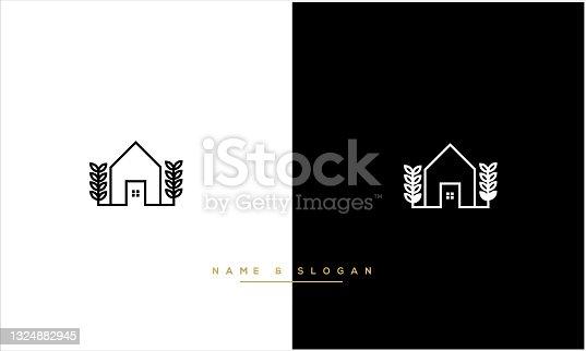 istock Real Estate Vector Logo MONOGRAM 1324882945