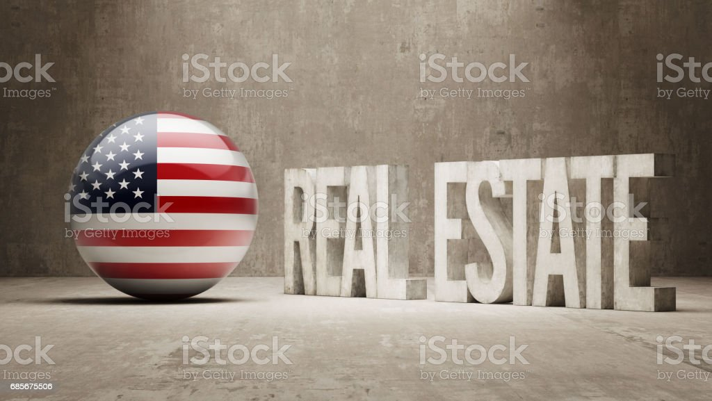 Real State Concept vector art illustration