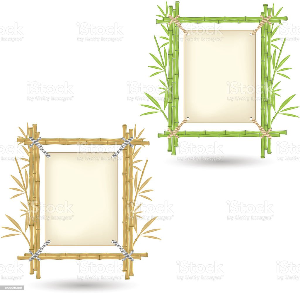 Realistic bamboo frame royalty-free stock vector art