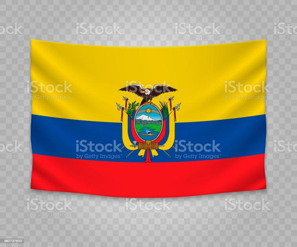 Bandeira de suspensão realista - Ilustração de Bandeira royalty-free