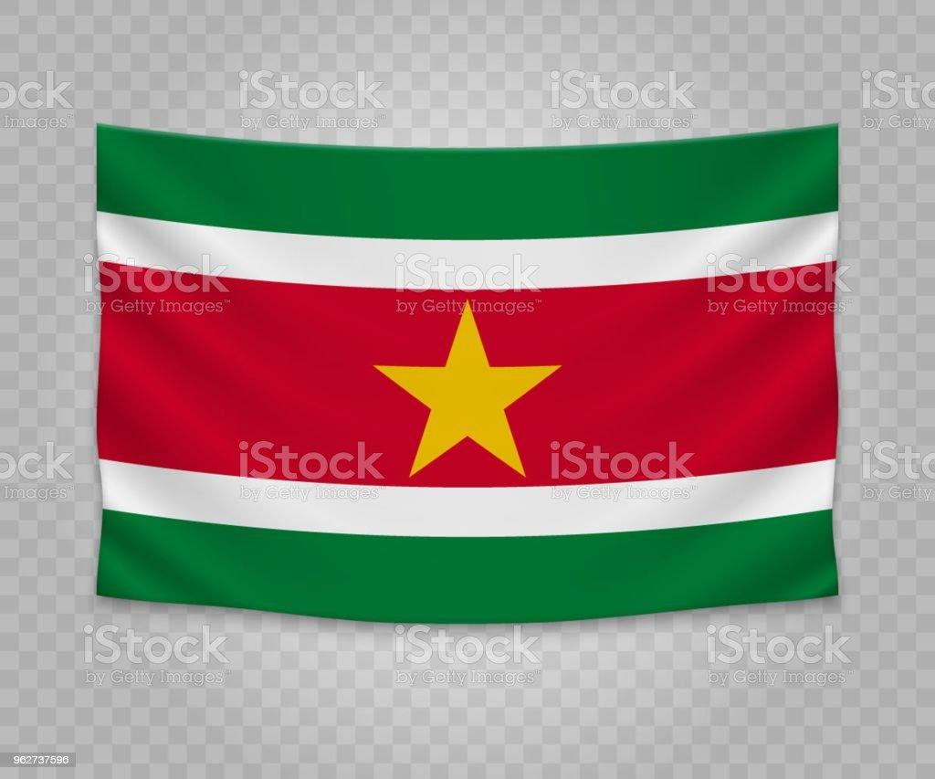 Bandeira de suspensão realista de - Ilustração de Bandeira royalty-free