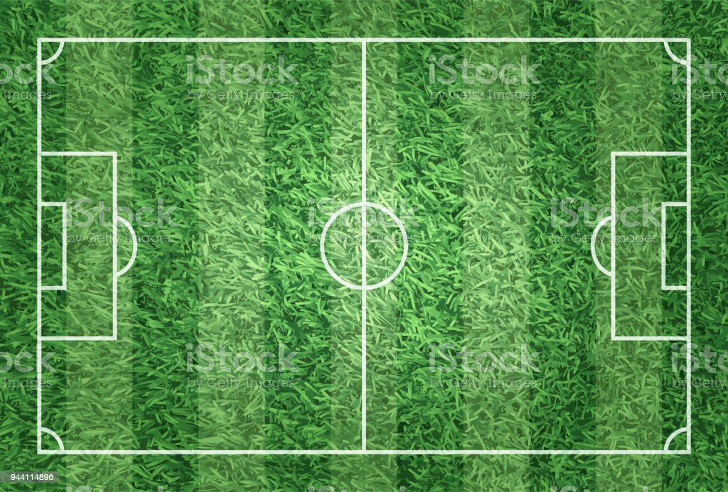 soccer field grass texture. Realistic Illustration Football Or Soccer Field With Turf Texture Background Royalty-free Grass