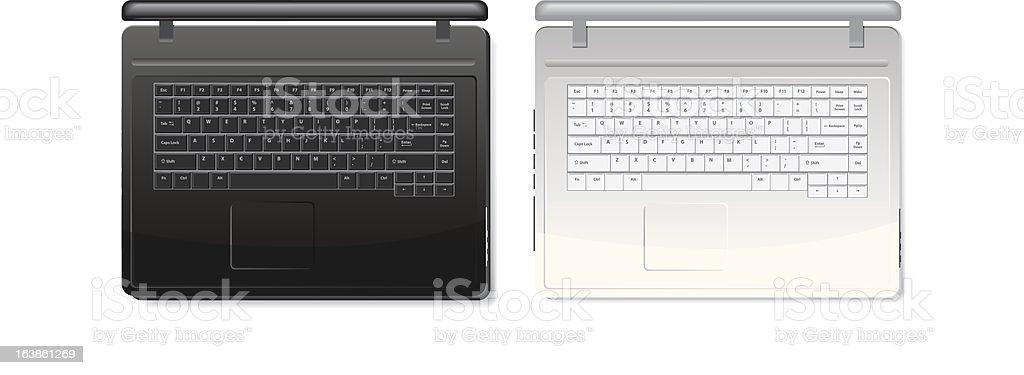 Realistic laptops royalty-free stock vector art