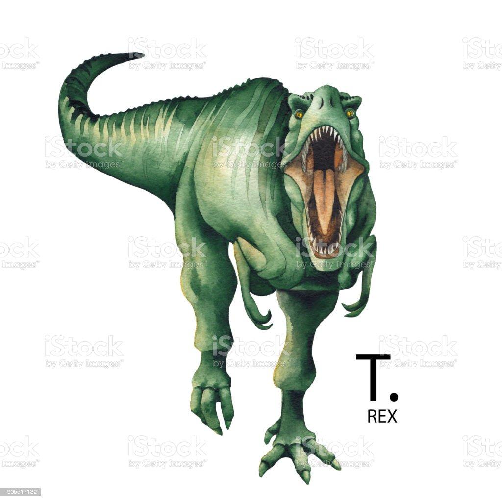 リアルな水彩恐竜 - アメリカ合衆国のベクターアート素材や画像を多数ご