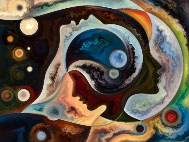 Reality of Inner Colors vector art illustration