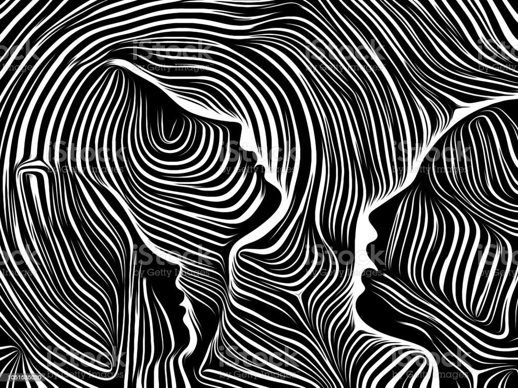 Reality of Inner Lines vector art illustration