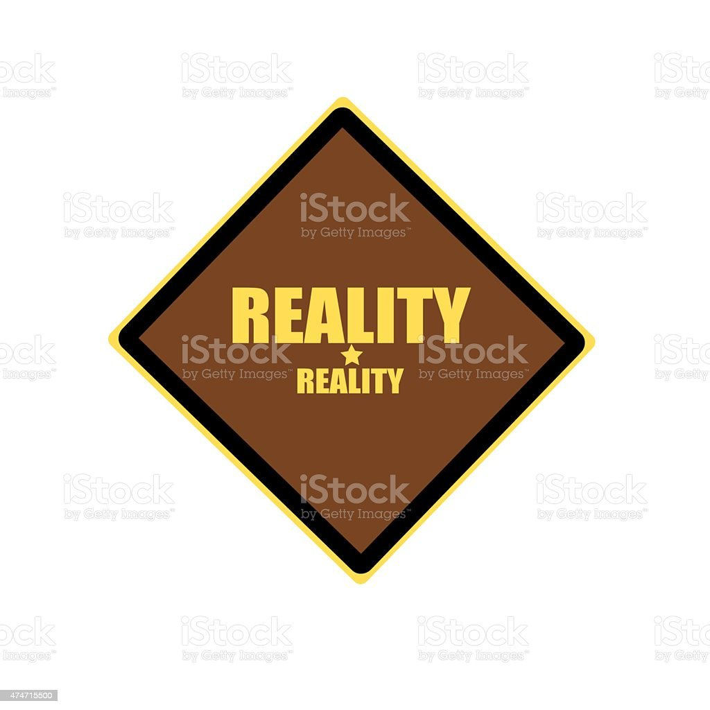 Reality yellow stamp text on brown background vector art illustration