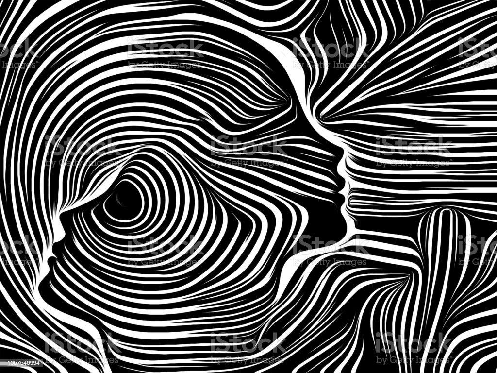 Realms of Inner Lines vector art illustration