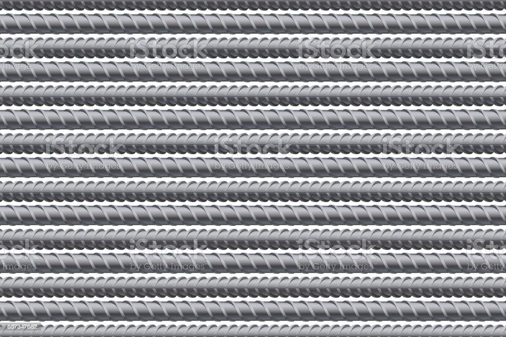 Rebars pattern background. Reinforcement steel vector art illustration