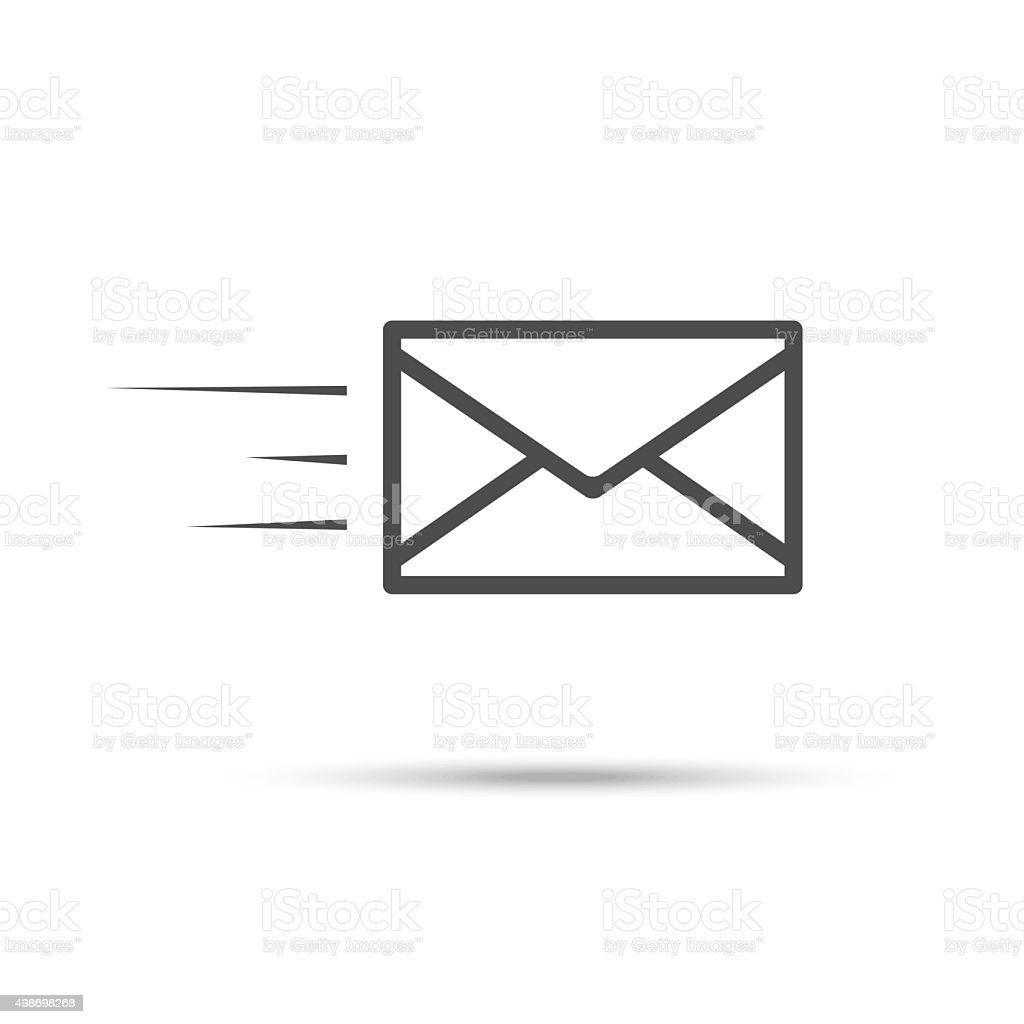 Receive mail icon vector art illustration