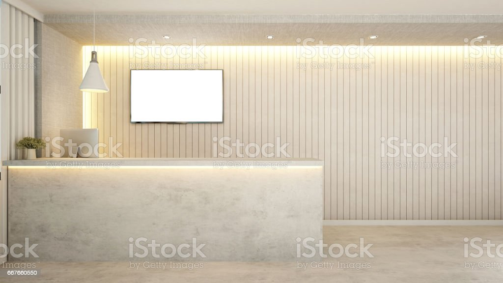 reception design for apartment or hotel 3dのベクターアート素材や