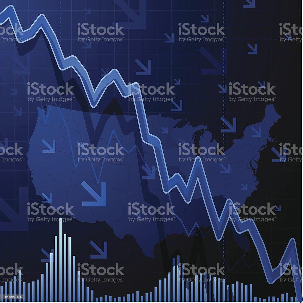 US Recession Background vector art illustration