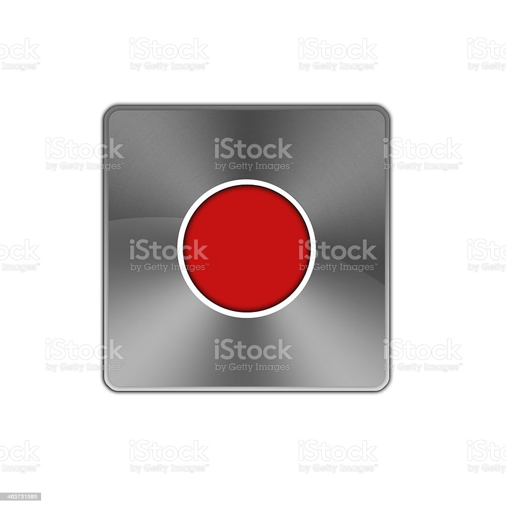 Record button icon. royalty-free record button icon stock vector art & more images of aluminum
