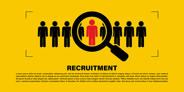 641422198 istock photo Recruiting human resource management business corporate concept. Recruitment process that is suitable for the position. Vector illustration 1251688079