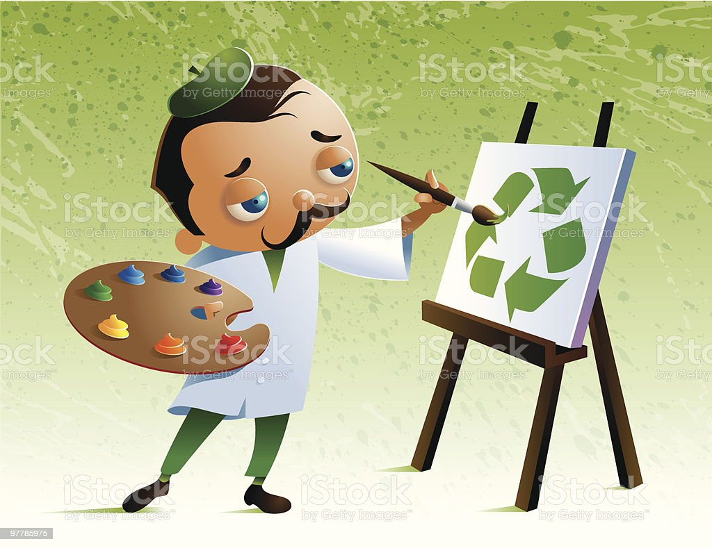 Recycle Artist royalty-free recycle artist stock vector art & more images of adult