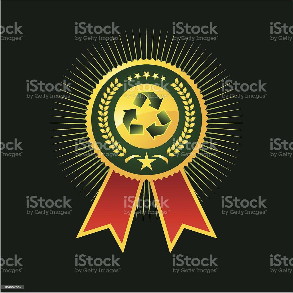 Recycle Award royalty-free stock vector art