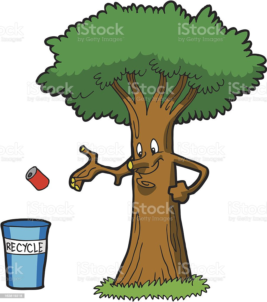 Recycle Tree royalty-free stock vector art