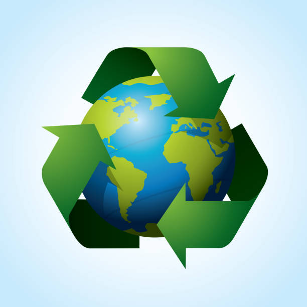 recycle vector - composting stock illustrations