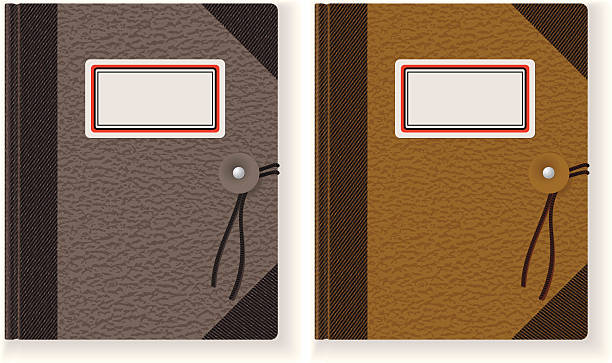 recycled note pad - composition notebook cover stock illustrations, clip art, cartoons, & icons