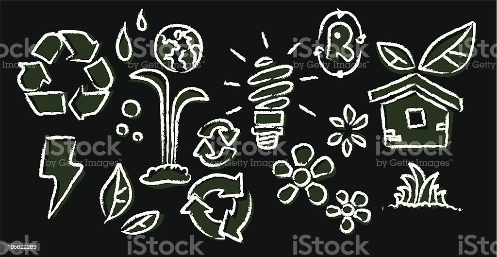 Recycling set royalty-free stock vector art